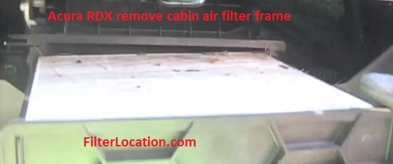 Acura RDX remove cabin air filter frame
