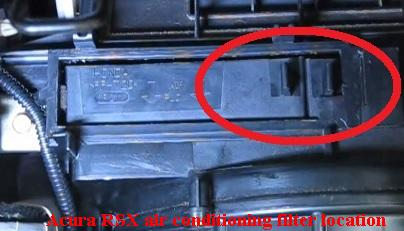 Acura RSX air conditioning filter frames tabs