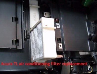 Acura TL air conditioning filter replacement