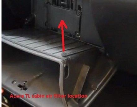 Acura TL cabin air filter location