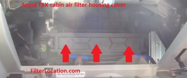 Acura TSX Cabin Air Filter Location FilterLocationcom - Acura tsx air filter