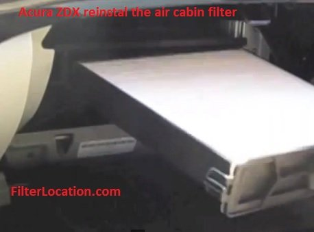 Acura ZDX reinstall the air cabin filter