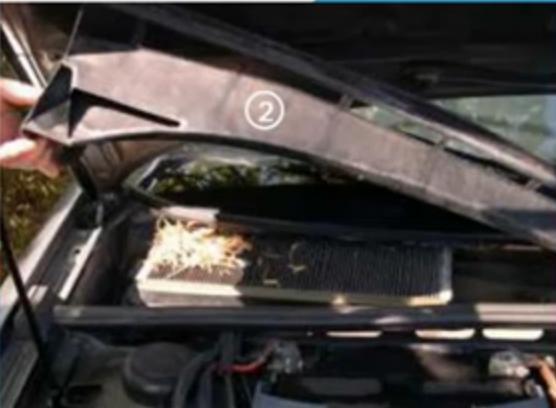 Cabin air filter Audi 80 plastic cover