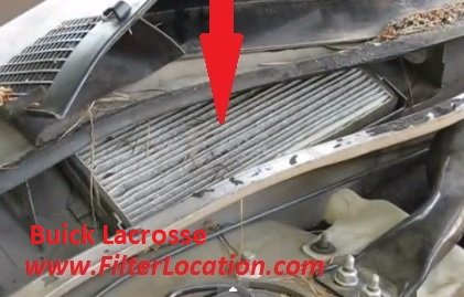 Cabin air filter location and replacement Buick Lacrosse step 2