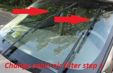 Cabin air filter location and replacement Oldsmobile Intrigue step 1