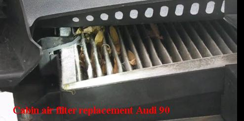 Cabin air filter replacement Audi 90