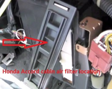 Honda Accord cabin air filter location