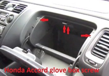 Honda Accord glove box screw