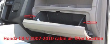 Honda CR-V 2007-2010 cabin air filter location