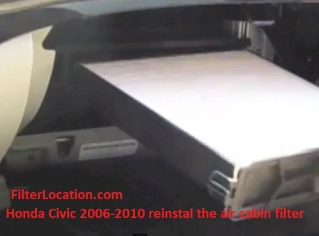 Honda Civic 2006-2010 reinstall the air cabin filter