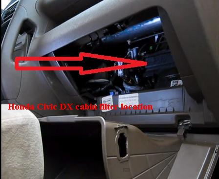 Honda Civic Dx Cabin Filter Location on 2004 Honda Civic Fuel Filter Location