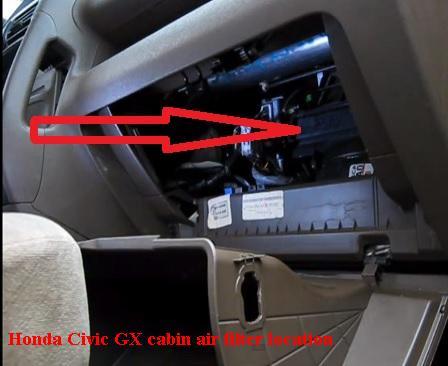 Honda Civic GX cabin air filter location