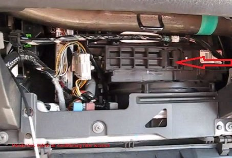 Honda Civic Hybrid cabin air filter location