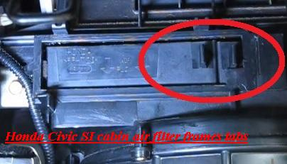 Honda Civic Si Cabin Air Filter Frames Tabs on 2004 Honda Civic Fuel Filter Location
