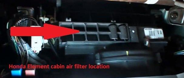 Honda Element cabin air filter location