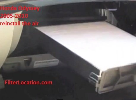 Honda Odyssey 2005-2010 reinstall the air cabin filter