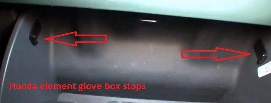 Honda element glove box stops