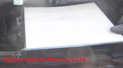 Replace cabin air filter Acura CSX