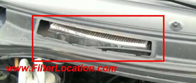 1999-2003 Ford Windstar locate cabin air filter location