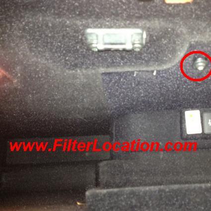 Alfa Romeo 159 cabin air filter location