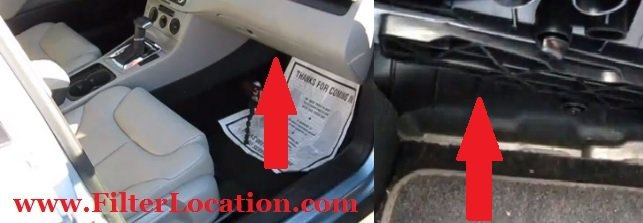 Audi A3 cabin air filter location
