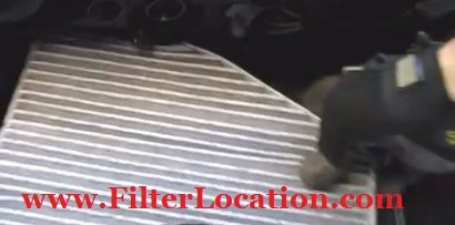 Audi A3 reinstall the new cabin air filter