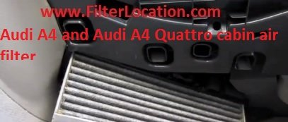 Audi A4 and Audi A4 Quattro cabin air filter replace with the new one
