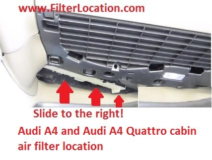 Audi A4 and Audi A4 Quattro cabin air filter replace