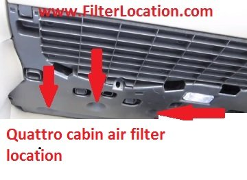 Audi A4 and Audi A4 Quattro locate cabin air filter
