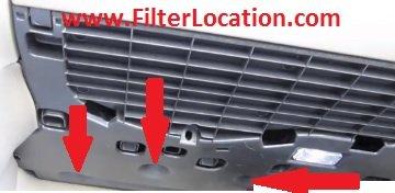 Audi A5 and Audi A5 Quattro locate cabin air filter