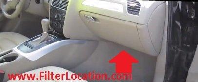 Audi A5 and Audi A5 Quattro cabin air filter location