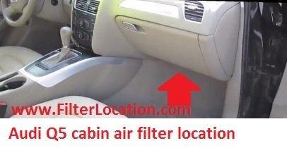 Audi Q5 cabin air filter location