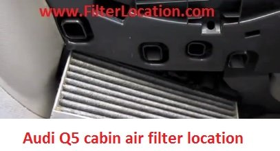 Audi Q5 cabin air filter replace with the new one