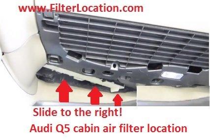 Audi Q5 cabin air filter replace