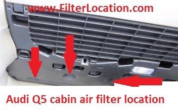 Audi Q5 locate cabin air filter