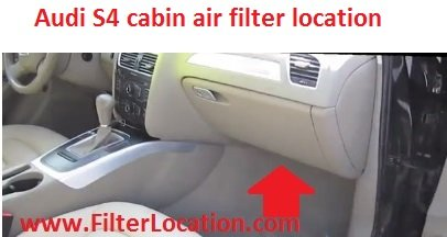 Audi S4 cabin air filter location