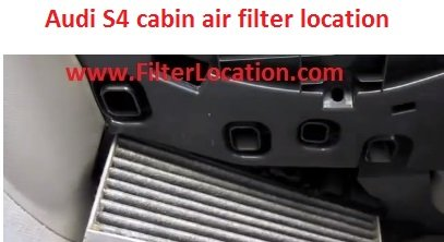 Audi S4 cabin air filter replace with the new one