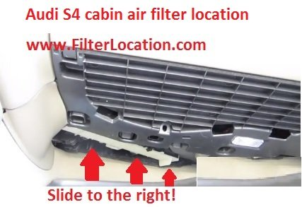Audi S4 cabin air filter replace