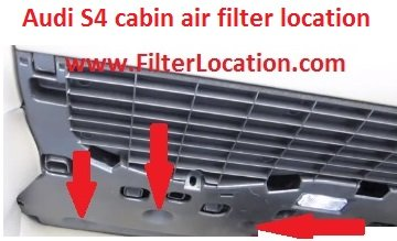 Audi S4 locate cabin air filter