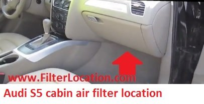 Audi S5 cabin air filter location