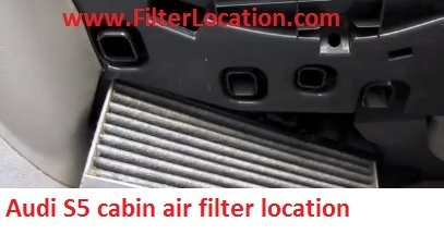 Audi S5 cabin air filter replace with the new one