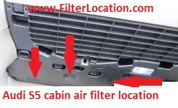 Audi S5 locate cabin air filter