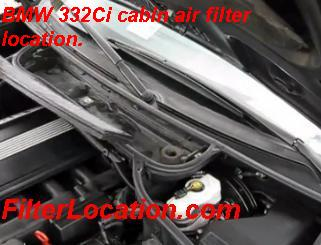 BMW 332Ci cabin air filter replacement