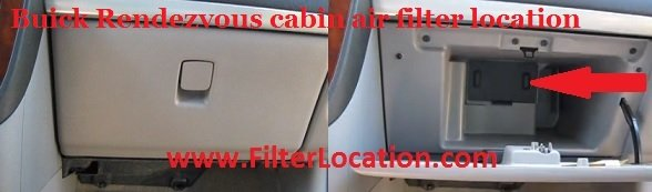 Buick Rendezvous cabin air filter location