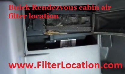 Buick Rendezvous  cabin air filter replacement