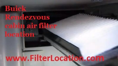 Buick Rendezvous new filter