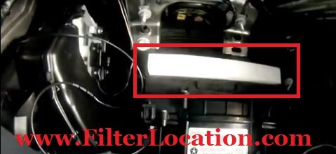 cabin air filter location dodge avenger