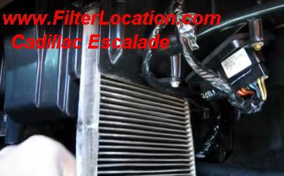 Cadillac Escalade Cabin Air Filter Location Remove