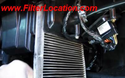 Chevrolet Avalanche 1500 cabin air filter location remove