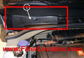 Citroen C2 cabin air filter location